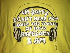 "Humorous ""I Can't Hear You"" T-Shirt  size Lg"