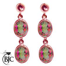 Topaz Drop/Dangle Rose Gold Fine Earrings