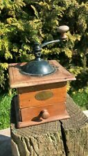 Fantastic Vintage French Peugeot Metal & Wood Manual Coffee Grinder With Draw *