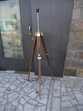 Wooden Tripod Lamp Stand Vintage Industrial Metal Tripod Floor Lamp Mid Century