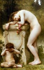 Old Masters Vintage Print Elegy by William  Bouguereau