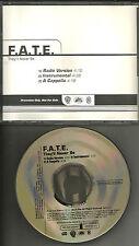 F.A.T.E. They'll never be RADIO & INSTRUMENTAL & ACAPELLA PROMO CD single fate
