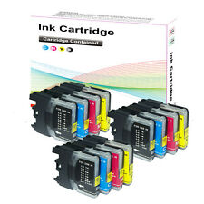 12 Ink Cartridges for Brother LC1100 MFC 5890CN 6490CW