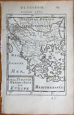 MALLET: Map of Greece Crete - 1683