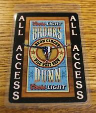 Vintage Brooks & Dunn Neon Circus Wild West Show PERRi Laminated Backstage Pass