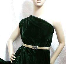 By the Yard 18% Real Silk Velvet Clothing Fabric Drapery Dark Emerald Green