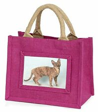 Cornish Rex Cat Little Girls Small Pink Shopping Bag Christmas Gift, AC-39BMP