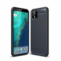Google Pixel 4 Case Phone Cover Protective Case Carbon Case Blau