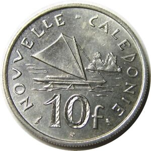 elf New Caledonia French 10 Francs 1972 Outrigger