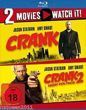 Crank 1 & 2 High Voltage [Blu-ray] Jason Statham, Amy Smart * NEU & OVP *