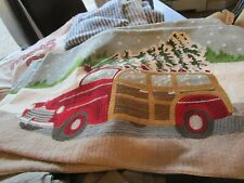Pottery Barn Christmas Woody  Embroidered Pillow Cover 16 26  lumbar New