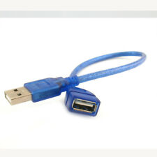 30CM Blue USB 2.0 Male To Female Extension Cord Cable For PC MAC iMac Laptop