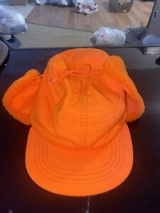 Vintage Whitewater Outdoors Thermal Insulated Hunting hat EAR FLAPS XL Blaze