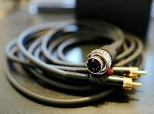 GOTHAM 5 DIN 180 DEGREE TO RCA CABLE FOR NAIM AUDIO 2 METER LONG