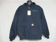EnlistOne CARHARTT J131 DNY DUCK ACTIVE HOODY JACKET THERMAL LINED NAVY SIZE XL