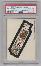 1977 Topps Wacky Packages 16th Series * Dr. Nests * PSA 8