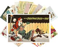 Postcards Pack [24 cards] Vintage Christmas Funny Dark Humor Strange Card CH4013