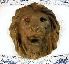 New listing Vintage Syroco Lion Head Garden Wall Plaque Architectural Wooden