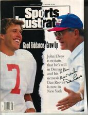 Dan Reeves Autographed Sports Illustrated Cover Giants Coach NFL TO KEN