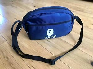 Authentic BAPE A Bathing Ape SHOULDER BAG NAVY from family bag pack NEW