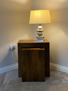 Nested Table - Dark Mango Solid Wood From Next - Excellent Condition