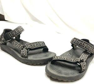 Teva Hurricane Black Gray Outdoor sports Hiking Sandals Mens size 7 SN 6640
