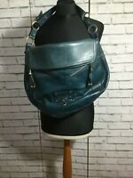 Marc Jacobs Large Zipped Flapped Classic Leather Hobo Shoulder Bag Dark Teal