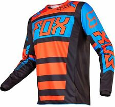 Fox Racing 2017 YOUTH 180 FALCON Motocross Jersey Black / Orange Size LARGE