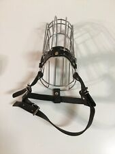 Dog Muzzle Wire Basket w/Adjustable Leather Straps
