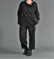 ♦ Chalona Shirt Hose  Größe 1,2,3,4,5 schwarz mit Faltensaum, Taschen ♦