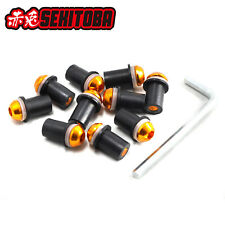 10pcs M5 Bolts Well Nuts Hex Key Washers for Sportbike Windscreen Windshield