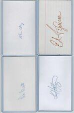(24) 1977 NEW YORK YANKEES SIGNED INDEX CARDS LOT ALL PSA/DNA CERTIFIED DIFFER