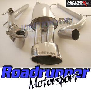 Milltek Ibiza Exhaust 1.9 TDI CUPRA System Non-Res & De Cat Downpipe Oval Tail