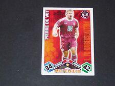 DE WIT 1.FCK KAISERSLAUTERN TOPPS ATTAX PANINI FOOTBALL BUNDESLIGA 2010-2011