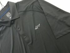 GREG NORMAN ML 75 MICROLUX PLAY DRY BLACK 100% POLY GOLF SHIRT MINT COND SZ XL