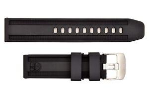 Luminox watch band 23mm Black rubber strap series 8800 8801 8802 8815 8817 2 pin