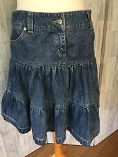 Jane Norman Denim Layered Hippy Boho Style Skirt Sz12/40