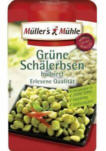 Müllers grüne Schälerbsen halb Erbsen ( getrocknet)  Hülsenfrüchte 500 g Beutel