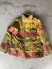 Firefighter Turnout Bunker Coat Fire Wear Brand 44 Chest 1998 Orange Trim