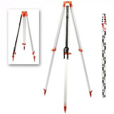 New Portable 1.63M Aluminum Tripod + 5M Staff For Rotary Laser Level