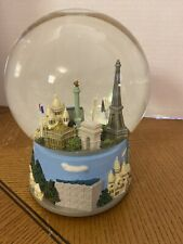 Three Jays Imports Windup Paris Snow Globe Music Box Works! Lovely