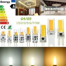 Dimmable G4/G9 LED COB 1.5/2/3/5/6/7/9W Silicon Light Lamp Bulb 12V/110V/220V !