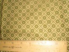 "Cotton Fabric - ""Merry Medley""  Green Filigree-Green Flowers on Diagonals-Moda"