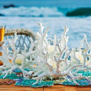 Coral Candelabra Frontgate brand, cast in non-corroding aluminum, Brand NEW