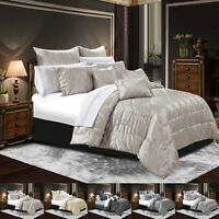 Luxury 3 Pcs Jacquard Quilted Bedspread Throw Bed Spread Comforter Bedding Set