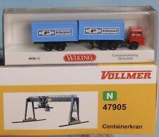 Vollmer 47905 , Spur N, Containerkran + Wiking Container SZ 095002, Vollmer 7905