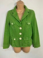 WOMENS BODEN GREEN CASUAL BUTTON V NECK LONG SLEEVE BLAZER JACKET COAT SIZE UK 8