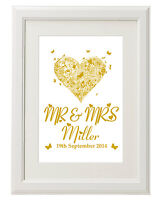 Unique print - Personalised Wedding present/ 1st Anniversary gifts unusual ideas