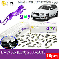 10pcs Xenon White Lamp Upgrade LED Interior Light Kit For 2006-2013 E70 BMW X5