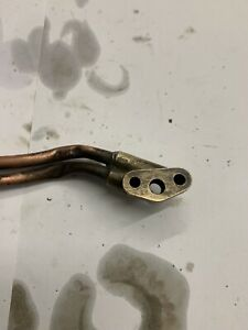 Triumph Tiger Cub Used Oil Pipes And Junction Block,Good Condition